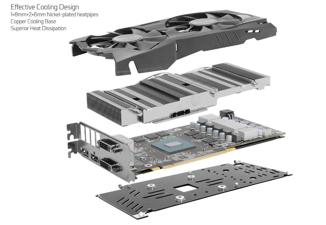 GALAX GeForce® GTX 1060 EXOC 6GB - Graphics Card