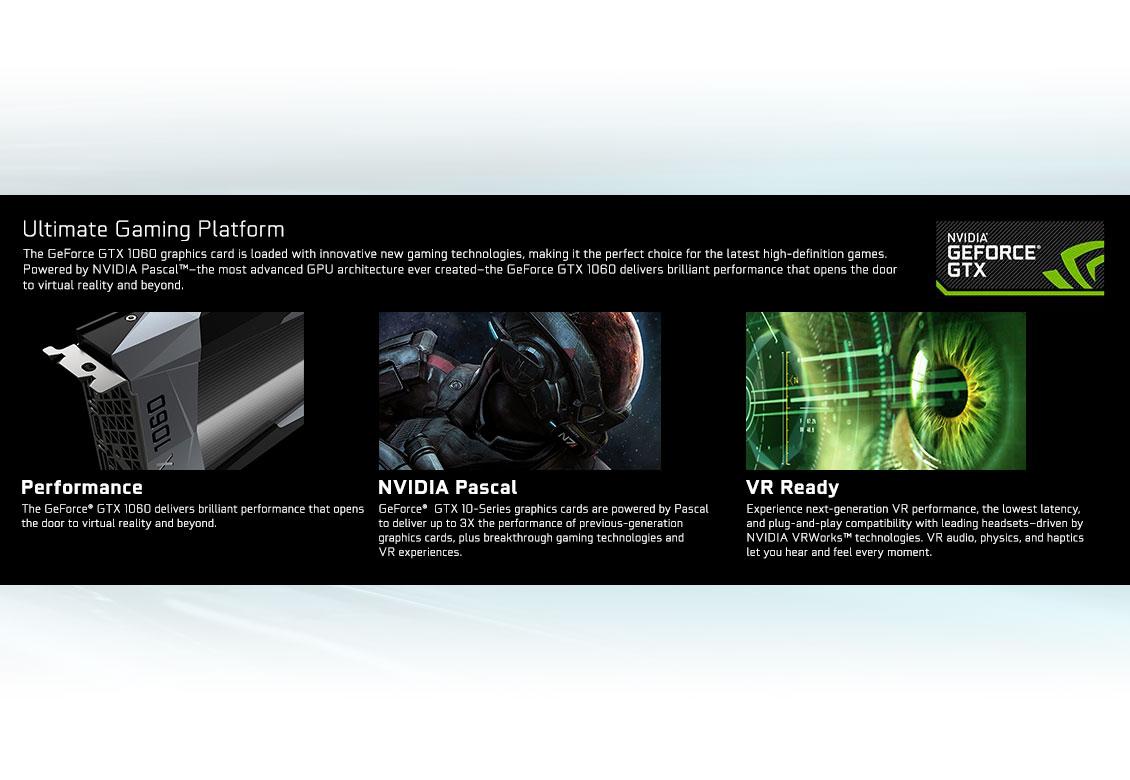 GALAX GeForce® GTX 1060 EXOC White 6GB - Graphics Card