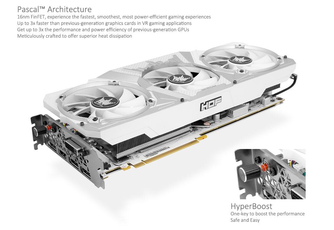 GALAX GeForce® GTX 1060 HOF GOC Edition 6GB - Hall of Fame