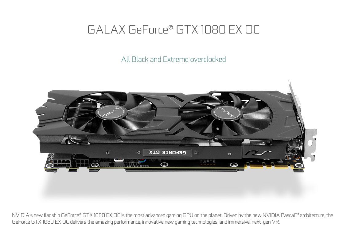 GALAX GeForce® GTX 1080 EXOC - GeForce® GTX 10 Series - Graphics Card