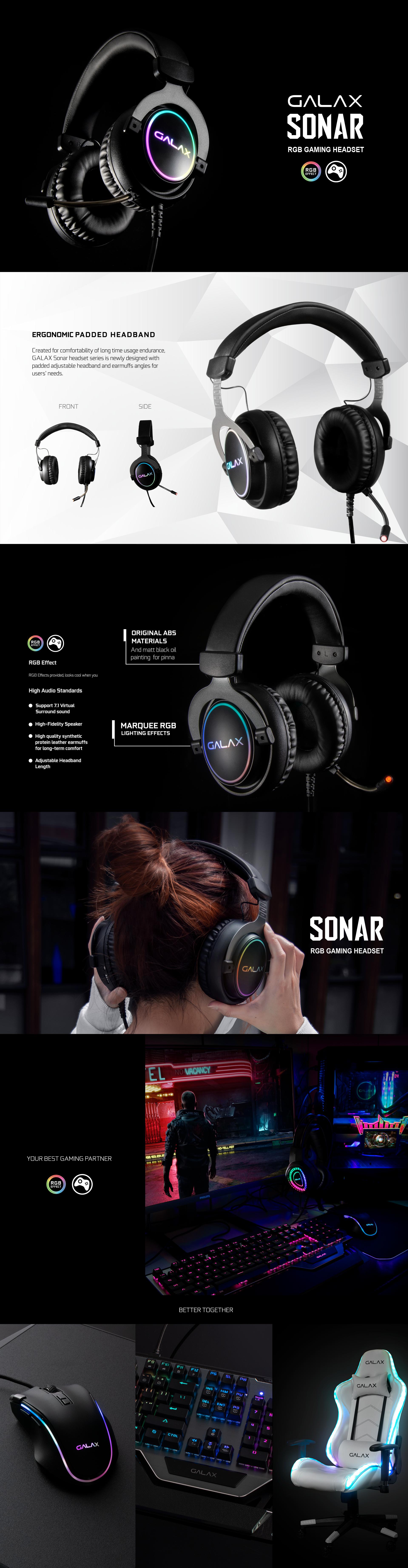 Tai nghe Galax Gaming Headset SONAR-01